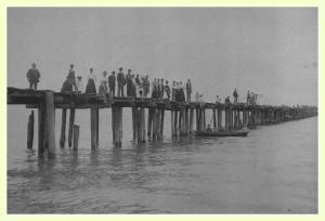 History Hika Bay Pier Cleveland Wisconsin